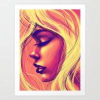 sunshine Art Prints featuring Sunshine by Suarez Art