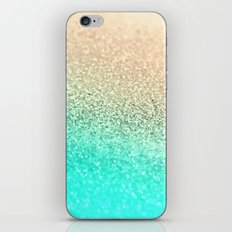 GOLD AQUA iPhone Skin