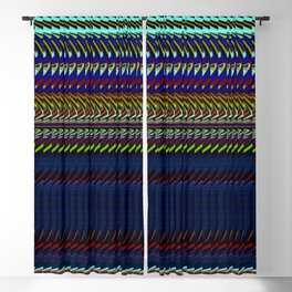 Blue Rag Weave by Chris Sparks Blackout Curtain