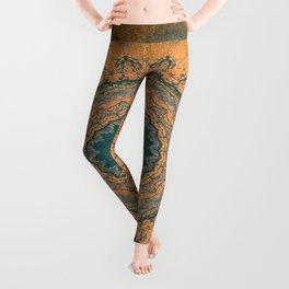 Bohemian Orange Leggings
