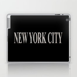 New York City (type in type on black) Laptop & iPad Skin