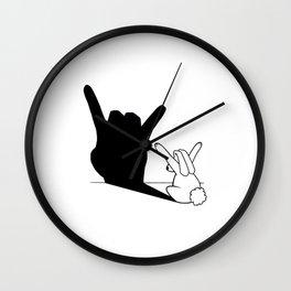 Rabbit Rock and Roll Hand Shadow Wall Clock
