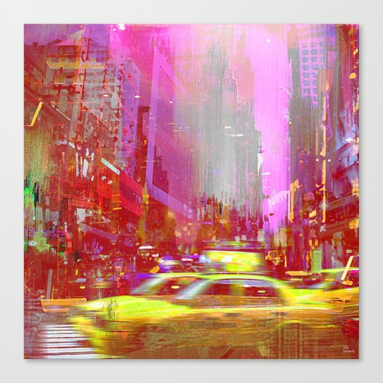 Moving to New York  Canvas Print
