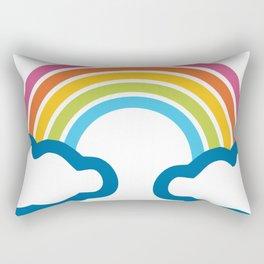 Rainbow Emoji Rectangular Pillow