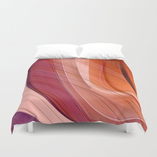 Colorgradient purple and orange Duvet Cover