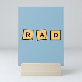 Rad Scrabble Letters Mini Art Print