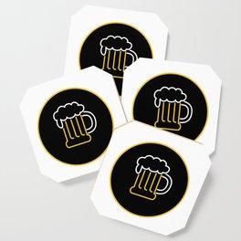 Beer Mug Foam  Neon Sign Icon Coaster