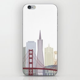 San Francisco skyline poster iPhone Skin