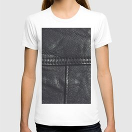 Leather texture T-shirt