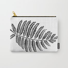 Fern Leaf – Black Palette Carry-All Pouch