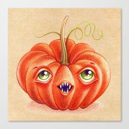 Wacky Pumpkin Canvas Print