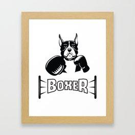 Boxer Dog Shirt - Boxer Dog Tee T Shirt Tshirt Gifts Clothes Framed Art Print