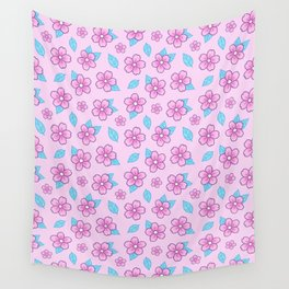 Sakura // Pink Wall Tapestry
