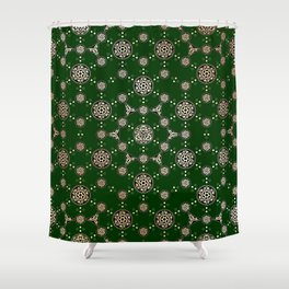 archaic pattern. crop circle. sacred geometry Shower Curtain
