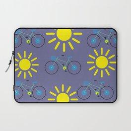 Sunshine And Bicycles Illustration Laptop Sleeve