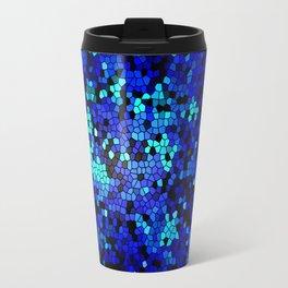 STAINED GLASS BLUES Travel Mug