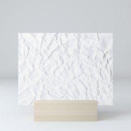 Crumpled Paper Mini Art Print