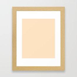Bisque - solid color Framed Art Print
