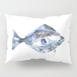 Flat Fish Watercolor Pillow Sham