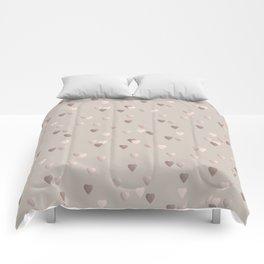 Elegant rose gold heart pattern Comforters