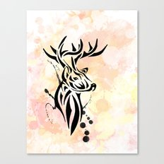 Stag Tribal  Canvas Print