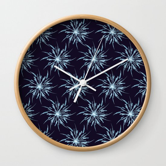 Christmas Snowflakes Wall Clock