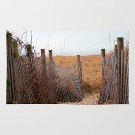 Wooden Sand Fence Rug