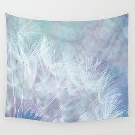 Whimsical Blue Dandelion Wall Tapestry
