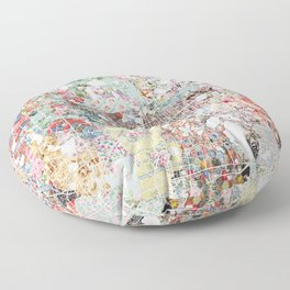 Orlando map landscape Floor Pillow