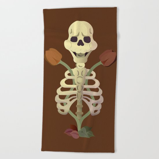 Old Bones with Dark Nature Beach Towel