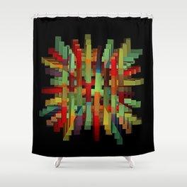 Popsicle Sticks Shower Curtain