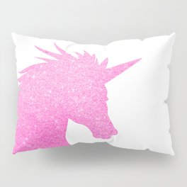 Pink Glitter Unicorn Pillow Sham