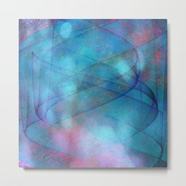 Blue tornado with fairy lights Metal Print