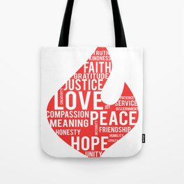Fire flame and virtues Tote Bag