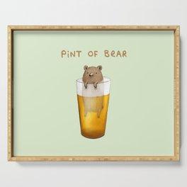 Pint of Bear Serving Tray