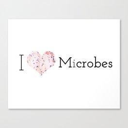 I heart microbes Canvas Print