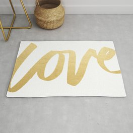 Love Gold White Type Rug