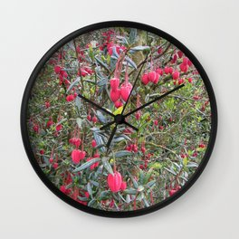 Dartmoor Acid Pink Flowers and an English Country Garden Wall Clock