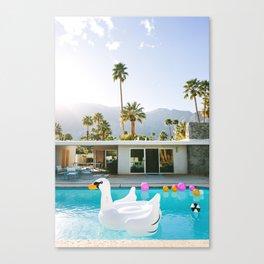 Palm Springs Swan Pool Canvas Print