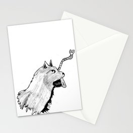 Wolf 2 with out name Stationery Cards