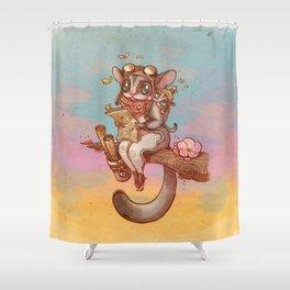 Sugar Glider's adventures  Shower Curtain