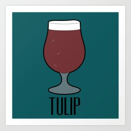 Beer Glass (Tulip) Art Print