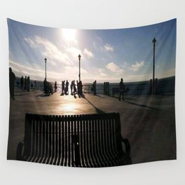 A Bench Tells Many Stories Wall Tapestry