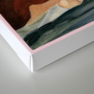 retro computer romance Canvas Print