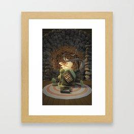 Cig-bot fireplace Framed Art Print