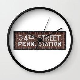 34 Street Penn Station Wall Clock