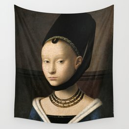 Portrait of a Young Girl by Petrus Christus, 1470 Wall Tapestry