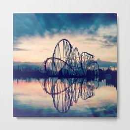 Rollercoaster Metal Print