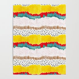 Amelia Abstract Landscape Poster