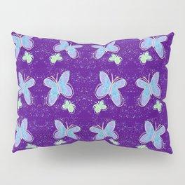 Splatter Painted Butterflies Pillow Sham